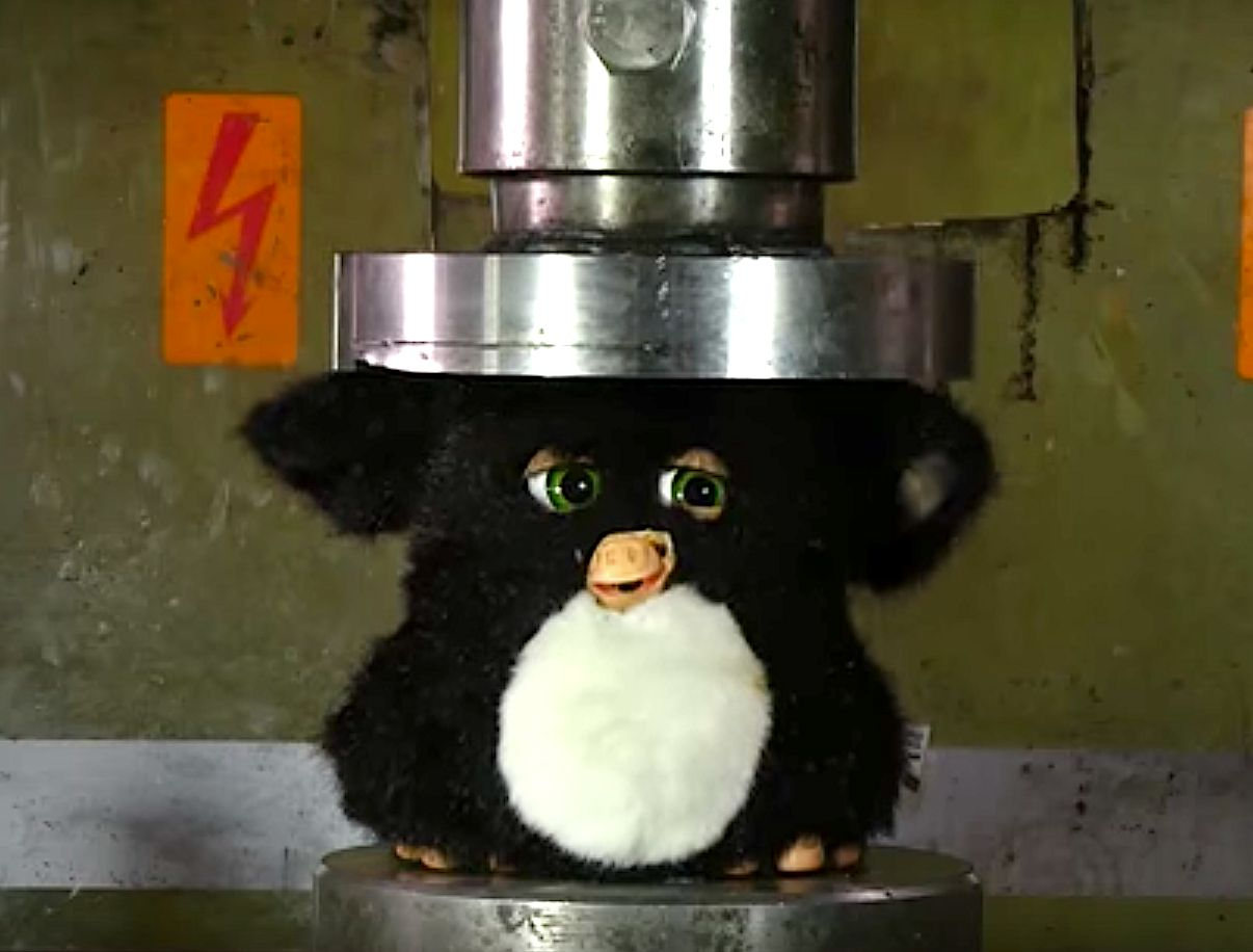 Hydraulic Press Obliterating A Furby Will Give '90s Kids