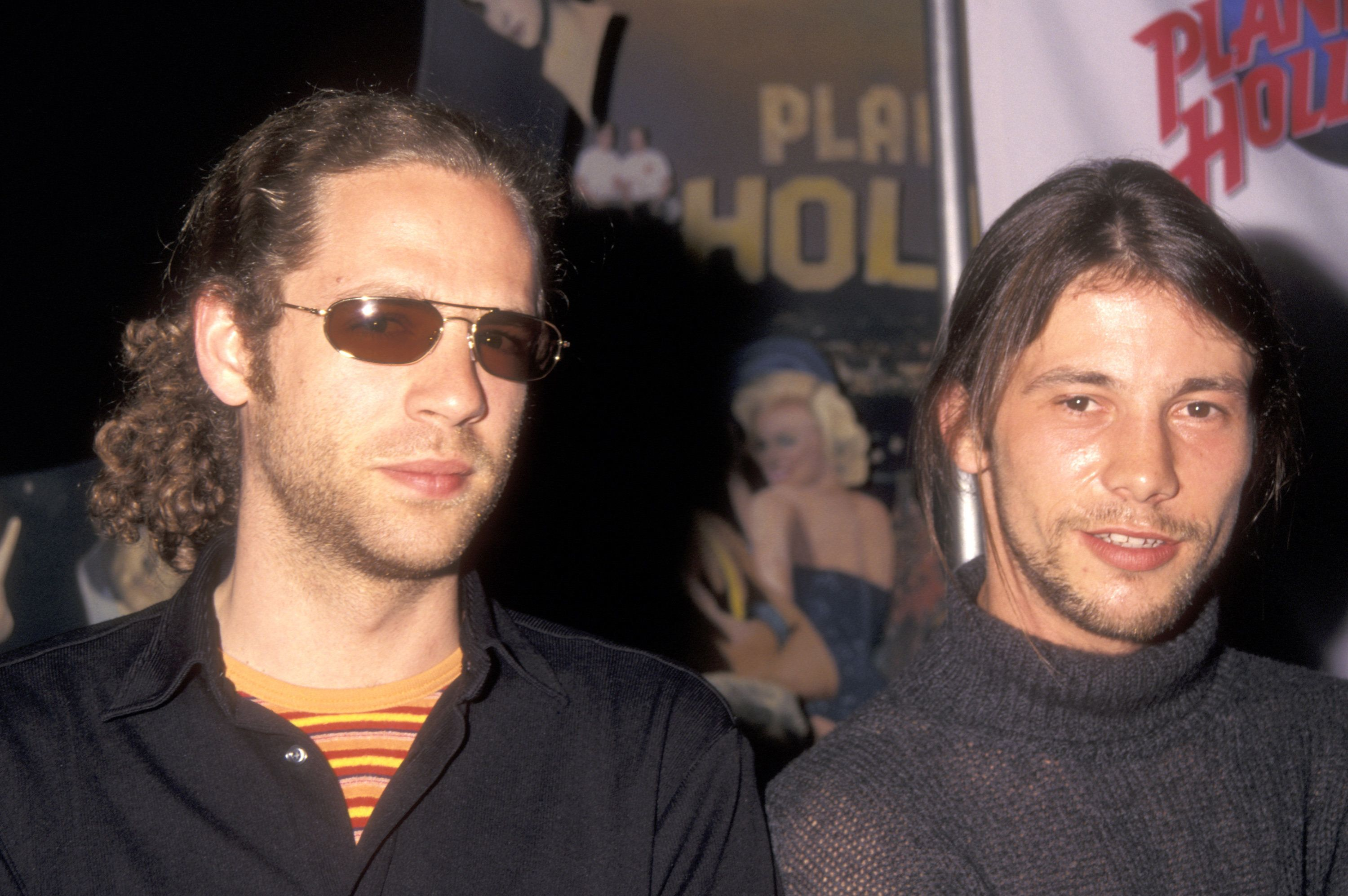 Toby Smith (left) has died at the age of 46, seen here with Jamiroquai singer Jay