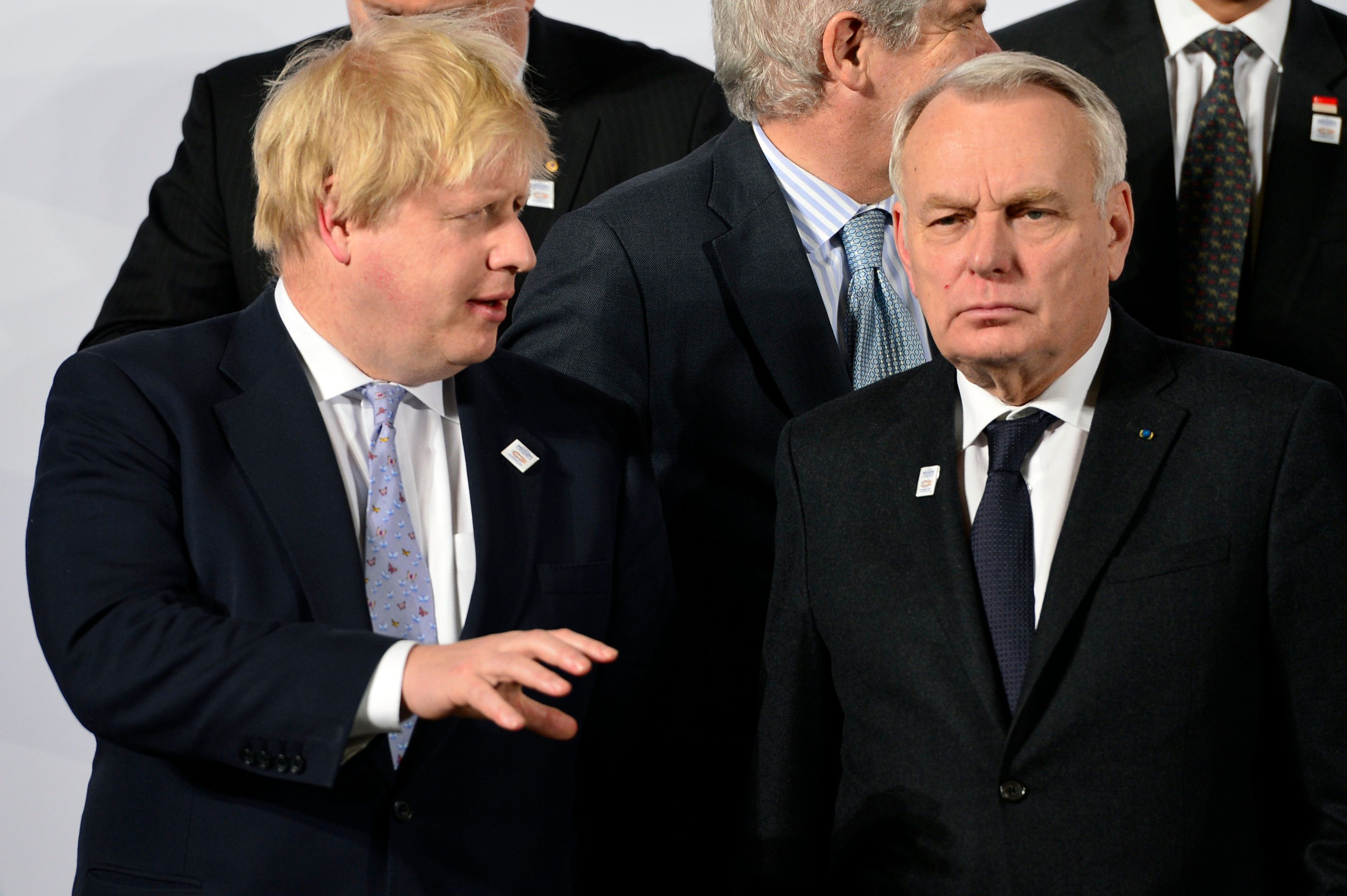 Boris Johnson and his French counter-part,Jean-Marc Ayrault, (r) says the world has a 'moral duty'...