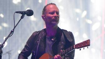 INDIO, CA - APRIL 14:  Musician Thom Yorke of Radiohead performs on the Coachella Stage during day 1 of the Coachella Valley Music And Arts Festival (Weekend 1) at the Empire Polo Club on April 14, 2017 in Indio, California.  (Photo by Kevin Mazur/Getty Images for Coachella)