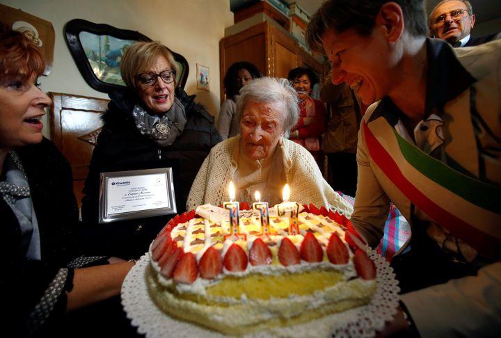 Emma Morano celebrates her 117th birthday in Verbania.