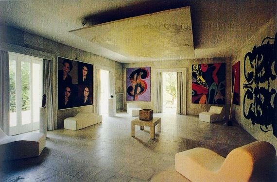The 'Warhol Room' at the Iolas house of wonders