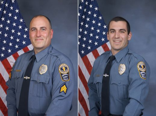 Sgt. Michael Bongiovanni (left) and Master Police Officer Robert McDonald were fired shortly after the arrest.
