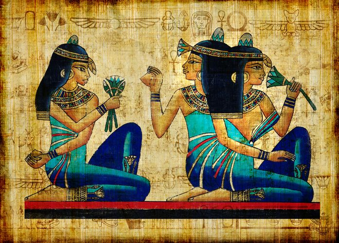 Lotus appears a lot in the decorations of Ancient Egyptians, they believed it gave them strength and power .