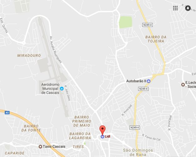 The location of the Lidl supermarket near the Aerodromo Municipal de