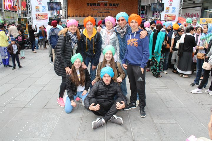 Volunteers tied turbans and educated participants about the Sikh faith.