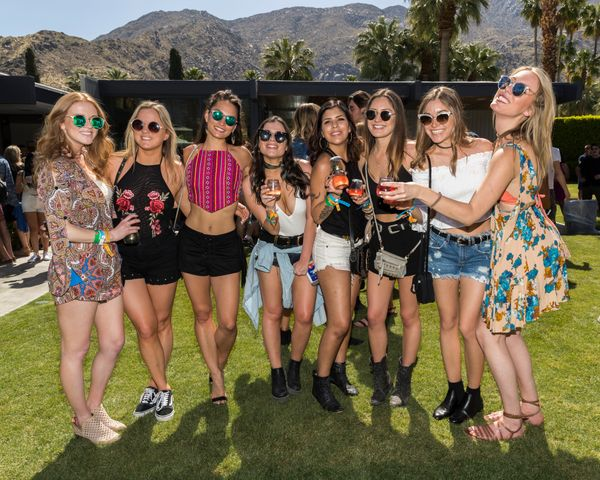 Cut offs, florals and and crop tops: It's a Coachella trifecta.