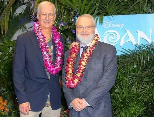 """""""Moana"""" co-directors John Musker (L) and Ron Clements."""
