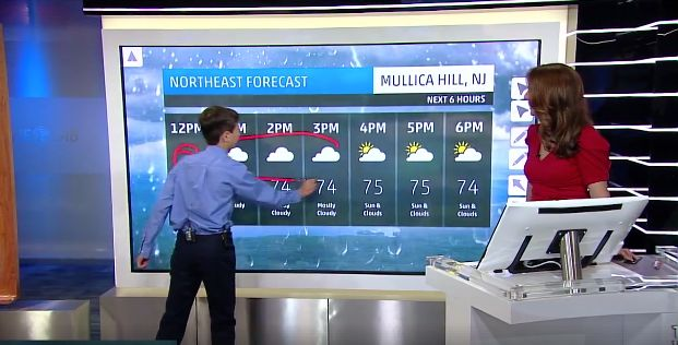 Thanks to the Make-A-Wish Foundation, he got the opportunity to deliver the forecast on The Weather Channel.