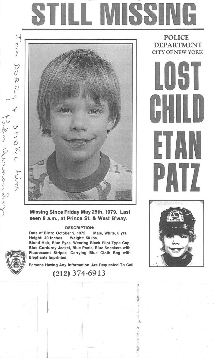 A poster with the writing of accused Pedro Hernandez is pictured in this undated evidence handout photo provided by defense a