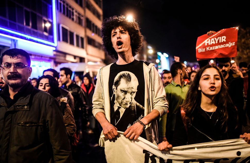 "The referendum marks ""the discontinuation of Atatürk's modern Turkey,"" Shafak says."