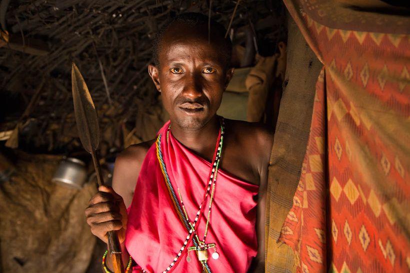 Inside a villager's home in Samburu, Kenya.