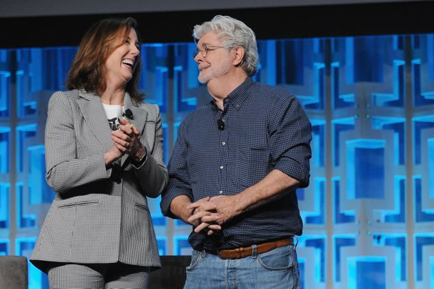 Kathleen Kennedy and George