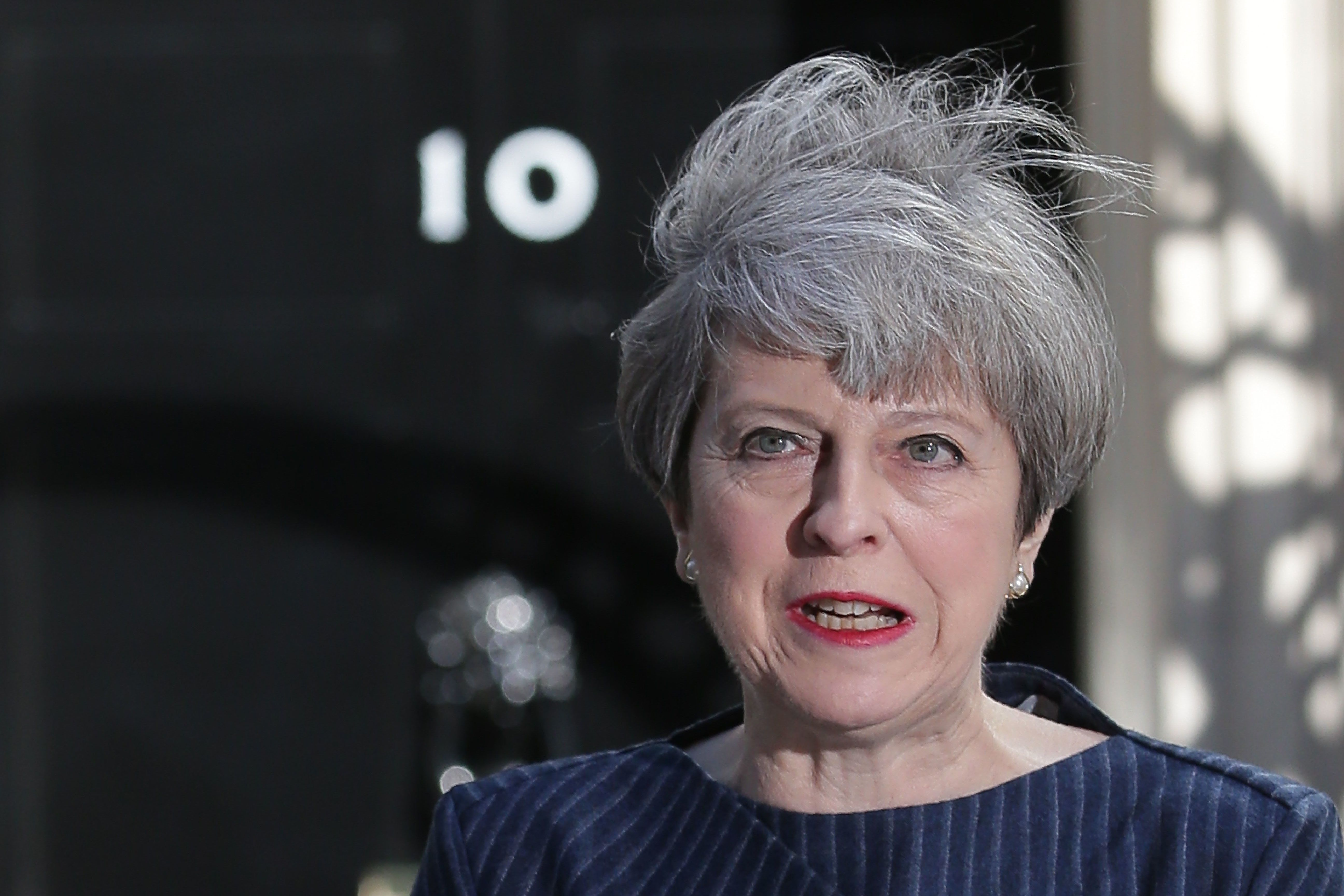 Theresa May said on Tuesday that she was seeking a snap
