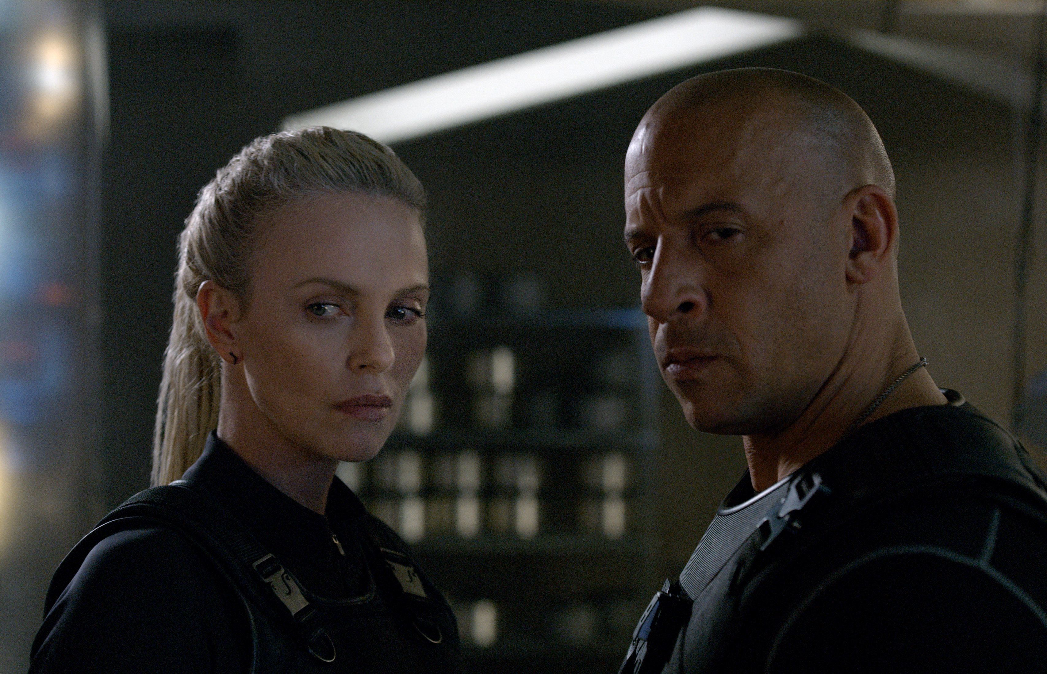"Cipher (CHARLIZE THERON) recruits Dom (VIN DIESEL) in ""The Fate of the Furious""  On the heels of 2015's ""Furious 7,"" one of the fastest movies to reach $1 billion worldwide and the sixth-biggest global title in box-office history, comes the newest chapter in one of the most popular and enduring motion-picture serials of all time."