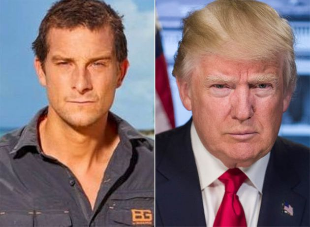 Bear Grylls has qualified words of encouragement to entice Donald Trump into the