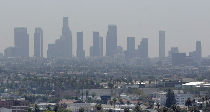 Los Angeles' air quality improved over the last year but it continues to have the nation's worst ozone pollution.