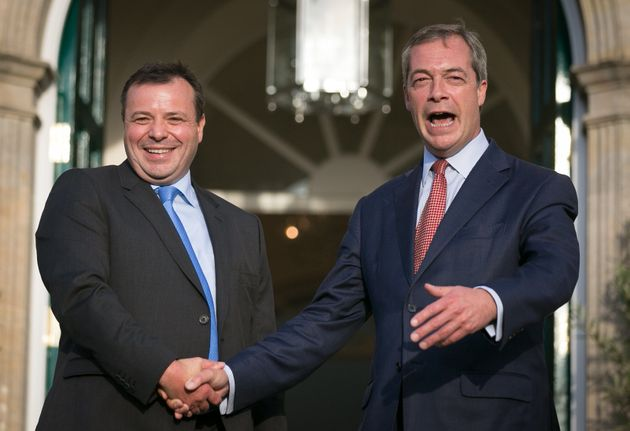 Arron Banks (left) with ex-Ukip leader Nigel Farage