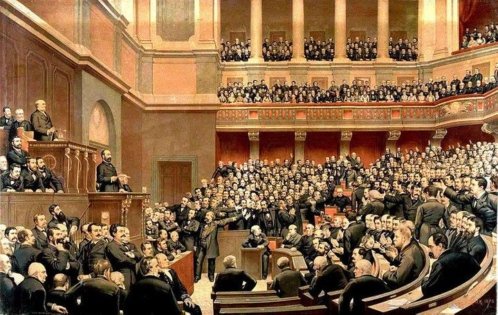 The French parliament in 1877.