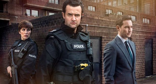 Daniel Mays appeared with Vicky McClure and Martin Compston in 'Line of Duty' Series