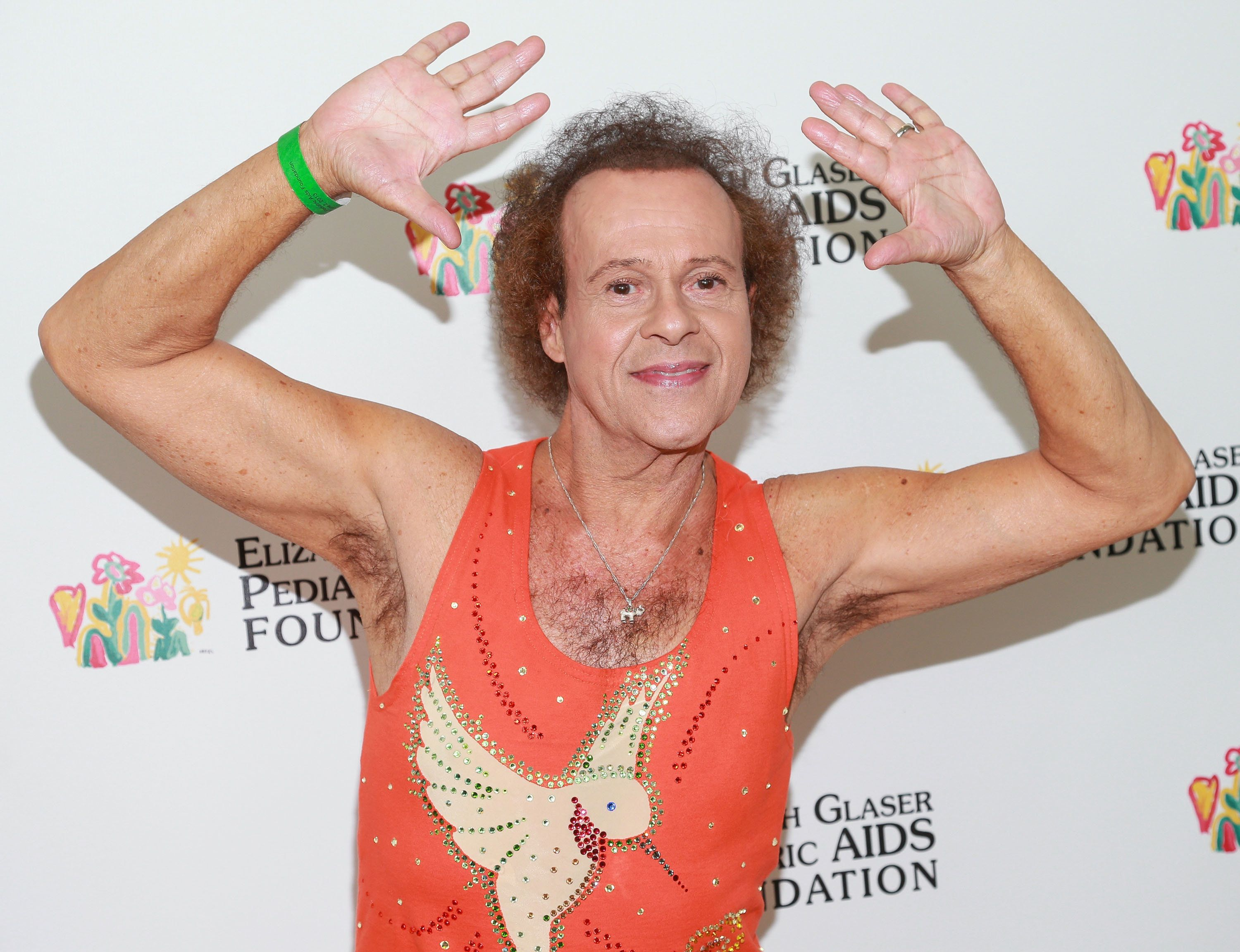 "Richard Simmons was hospitalized at an ""undisclosed location"" on Monday."