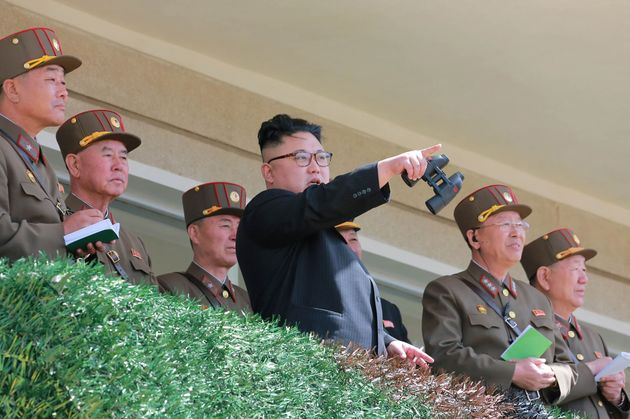 This undated picture released from North Korea's official Korean Central News Agency on April 14 shows...