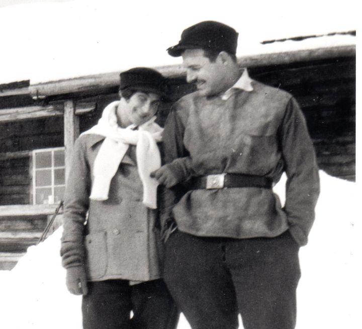Ernest Hemingway and Virginia Pfeiffer at Schruns, Austria, winter 1925.