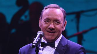 NEW YORK, NY - OCTOBER 22:  Actor and singer Kevin Spacey performs during the '100: The Apollo Celebrates Ella' at the Apollo Theater on October 22, 2016 in New York City.  (Photo by Shahar Azran/WireImage)