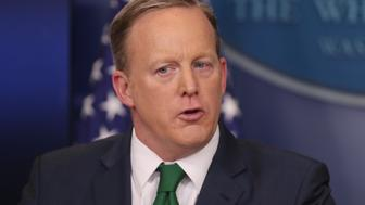 White House Press Secretery Sean Spicer takes question from the media at the west wing in Washington, USA.