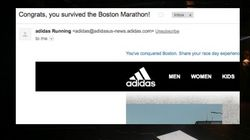 Adidas Sent Congratulatory Email To People Who 'Survived' Boston