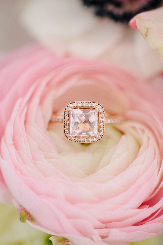 19 pink engagement rings so pretty theyll make you blush huffpost ibuy a similar style from a junglespirit Choice Image