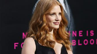 HOLLYWOOD, CA - APRIL 03:  Jessica Chastain arrives at the Los Angeles premiere of AMC's 'The Son' held at ArcLight Hollywood on April 3, 2017 in Hollywood, California.  (Photo by Michael Tran/FilmMagic)