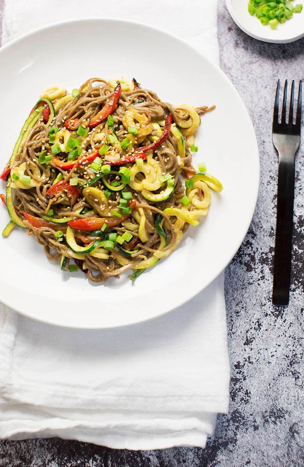 """<strong>Get the <a href=""""http://abeautifulmess.com/2016/09/miso-soba-noodles.html"""" target=""""_blank"""">Miso Soba Zoodles recipe</"""