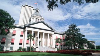 Florida, Tallahassee, Old And New State Capitol Buildings. (Photo by Education Images/UIG via Getty Images)
