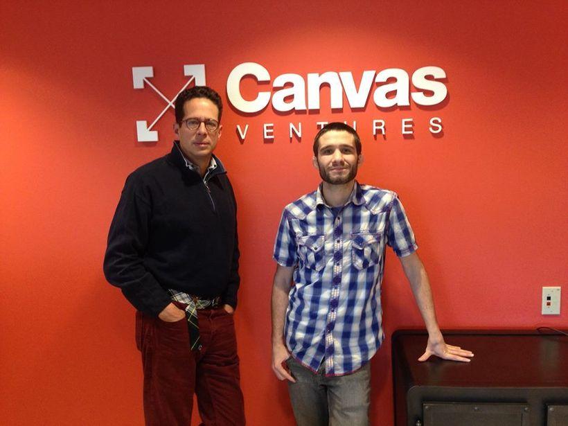 Daniel Faggella with Ben Narasin at Canvas Ventures
