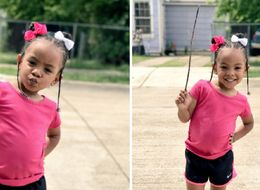 3-Year-Old Told Mum She Wanted Everybody To See Her Stick, The Reaction Was Amazing