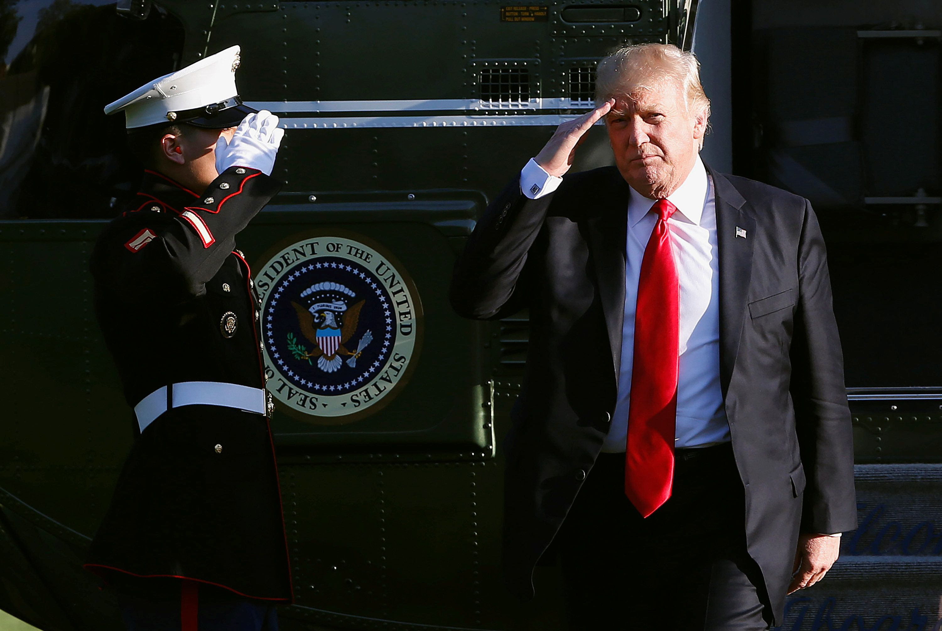 Donald Trump said an 'armada' was being sent in response to the North Korean