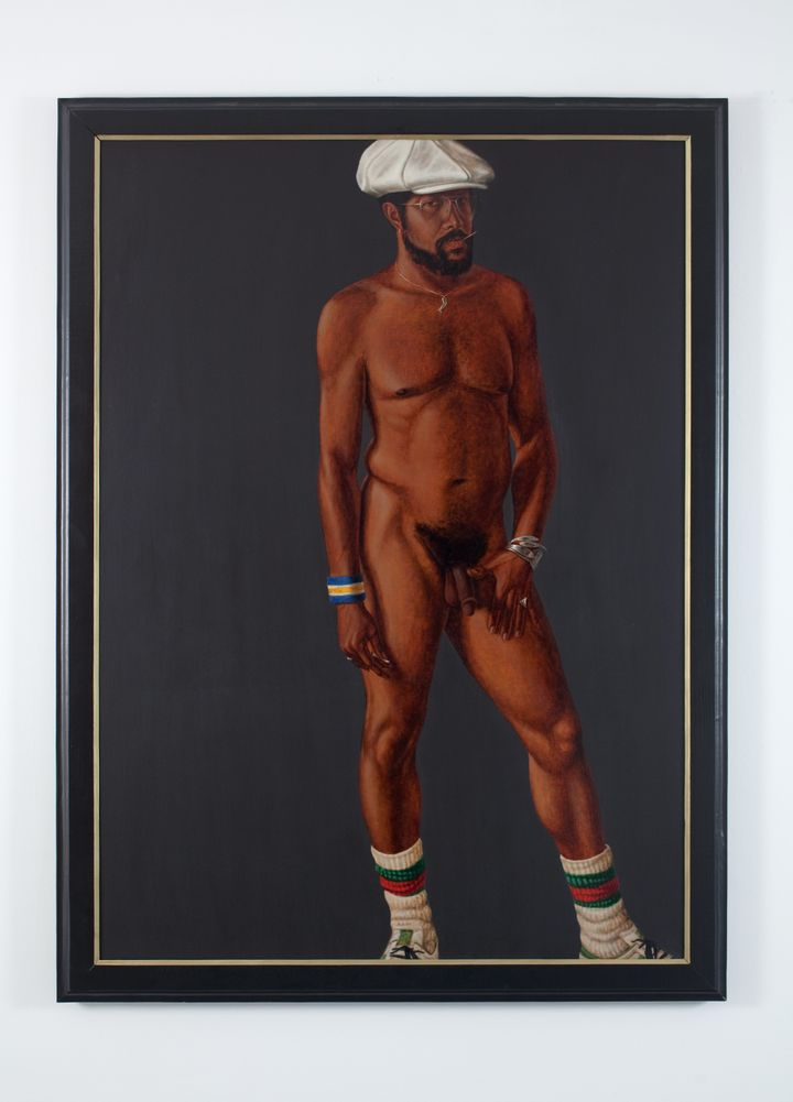"Barkley L. Hendricks, ""Brilliantly Endowed,"" 1977, oil and acrylic on linen canvas, 66 x 48 inches."
