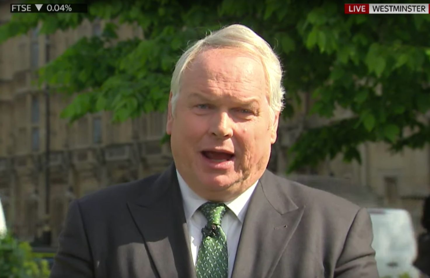 Adam Boulton fronted Sky's coverage from Westminster on Wednesday, after an on air spat with No10 a...