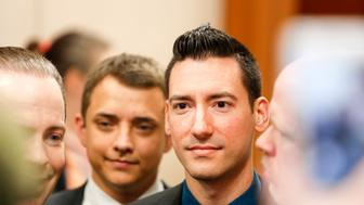 HOUSTON, TX - FEBRUARY 04:  David Daleiden, a defendant in an indictment stemming from a Planned Parenthood video he helped produce, arrives for court at the Harris County Courthouse after surrendering to authorities on February 4, 2016 in Houston, Texas. Daleiden is facing an indictment on a misdemeanor count of purchasing human organs, and along with defendant Sandra Merritt, is charged with tampering with a governmental record. (Photo by Eric Kayne/Getty Images)