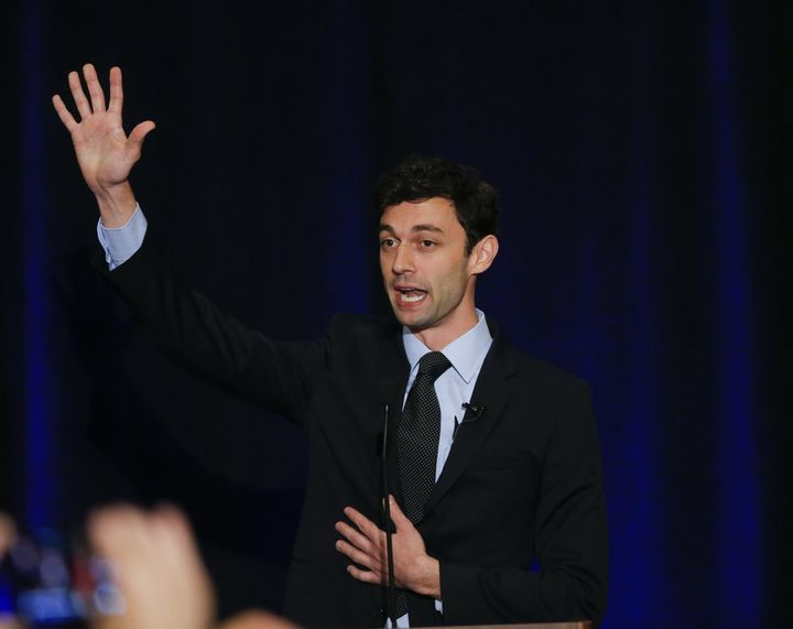 John Ossoff at an election night party.