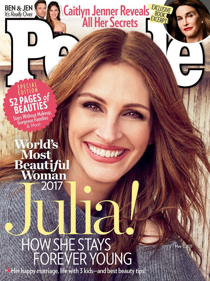 "Julia Roberts, People's ""Most Beautiful Woman"" of 2017."