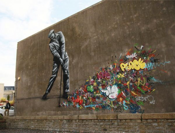 Martin Whatson pays an homage to graffiti writers and taggers, from  whom much of today's Street Art and mural festivals evol