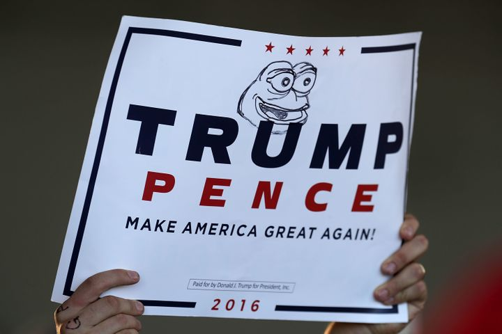 Pepe as drawn on a campaign sign in Minneapolis in November.