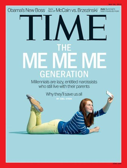 An older Time magazine cover devoted to the topic of Millennials