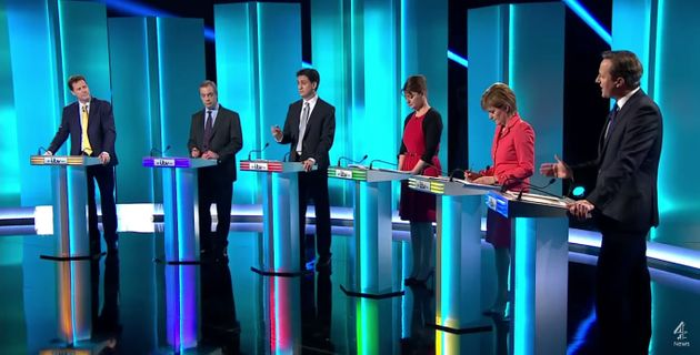 Seven party leaders clashed in a televised debate in