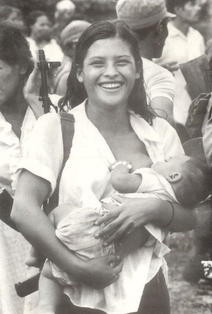 A photograph of a Sandista woman Cabrera found during her research.