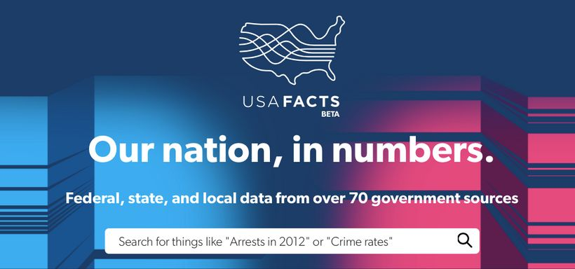 <em>USAFacts - a new database that offers easy-to-use information on how we raise and spend tax dollars - launched this week.