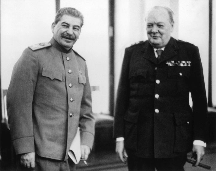Stalin and Churchill in Yalta. Feb. 8, 1945.