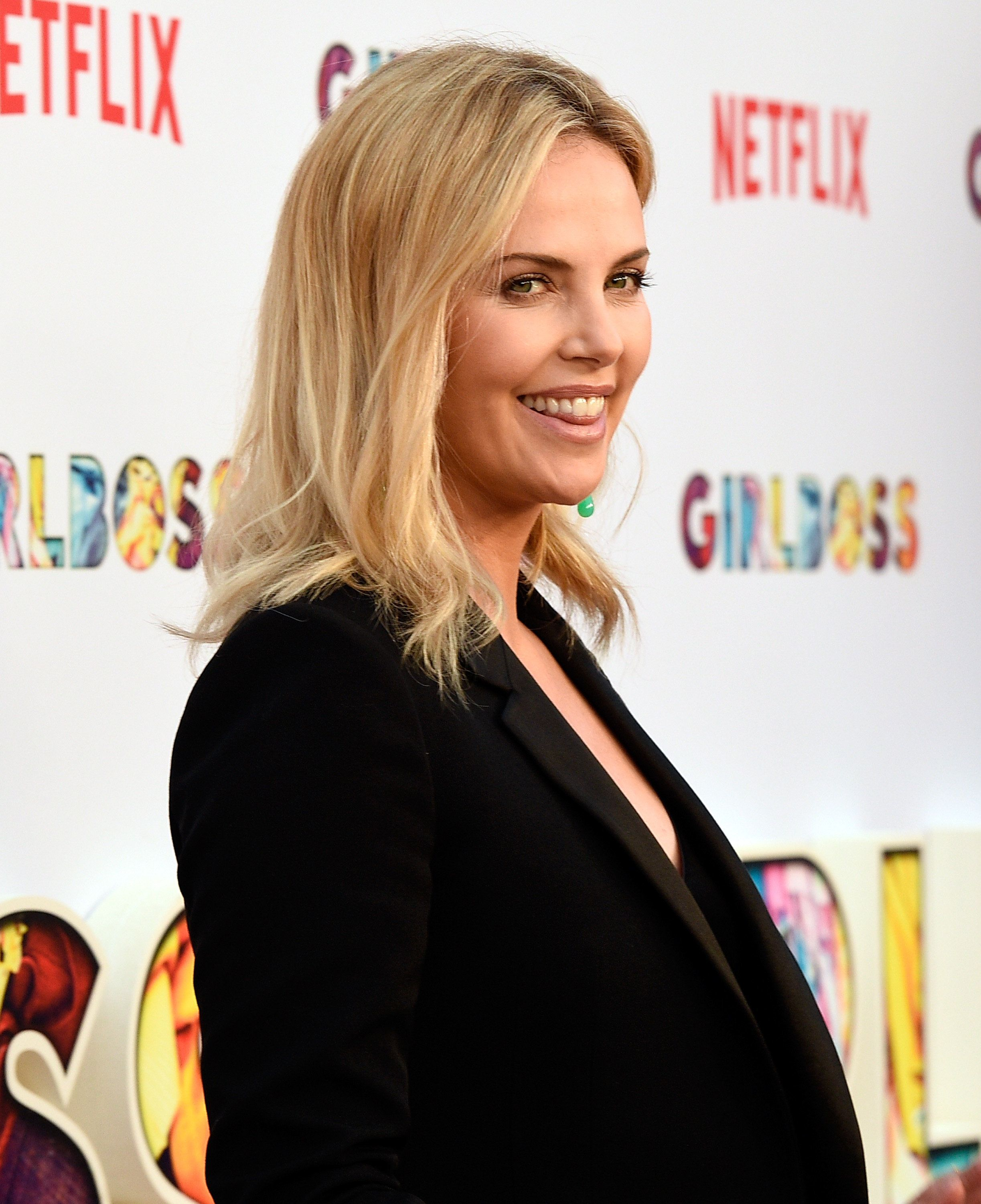 HOLLYWOOD, CA - APRIL 17:  Executive producer Charlize Theron attends the premiere of Netflix's 'Girlboss' at ArcLight Cinemas on April 17, 2017 in Hollywood, California.  (Photo by Kevork Djansezian/Getty Images)